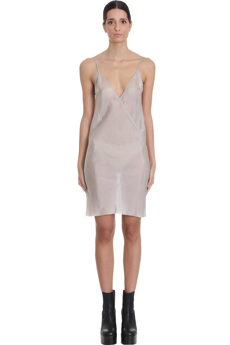 Buy Rick Owens Slip Dress Dress In Beige Viscose online, shop Rick Owens with free shipping