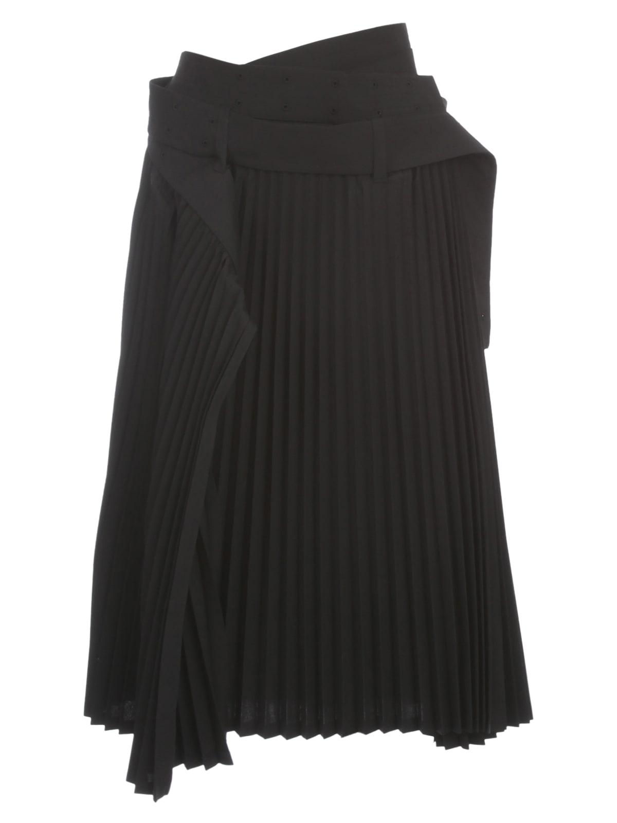 Wool Plisse Skirt