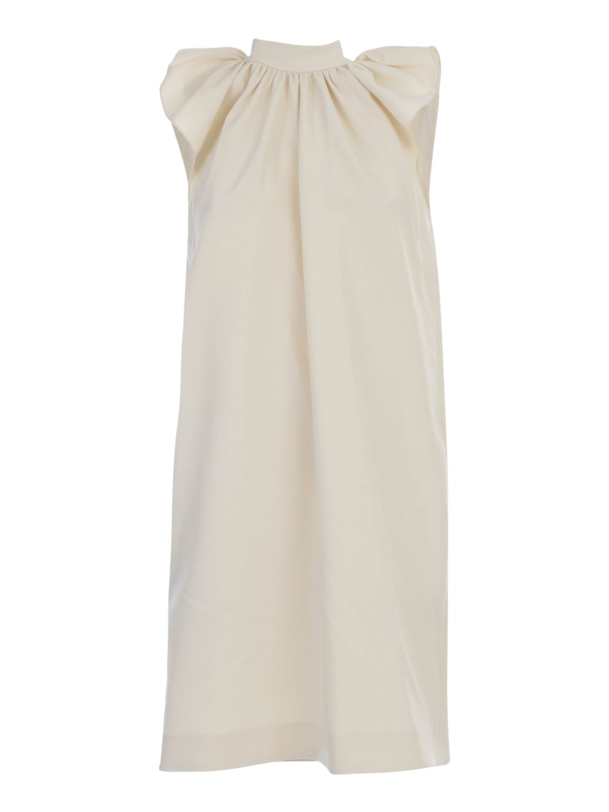 Buy Victoria Beckham Rouched Shoulder Sleevless Dress online, shop Victoria Beckham with free shipping