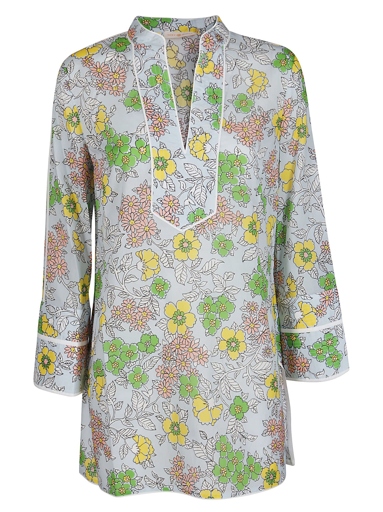 Buy Multicolor Cotton Mini Dress online, shop Tory Burch with free shipping