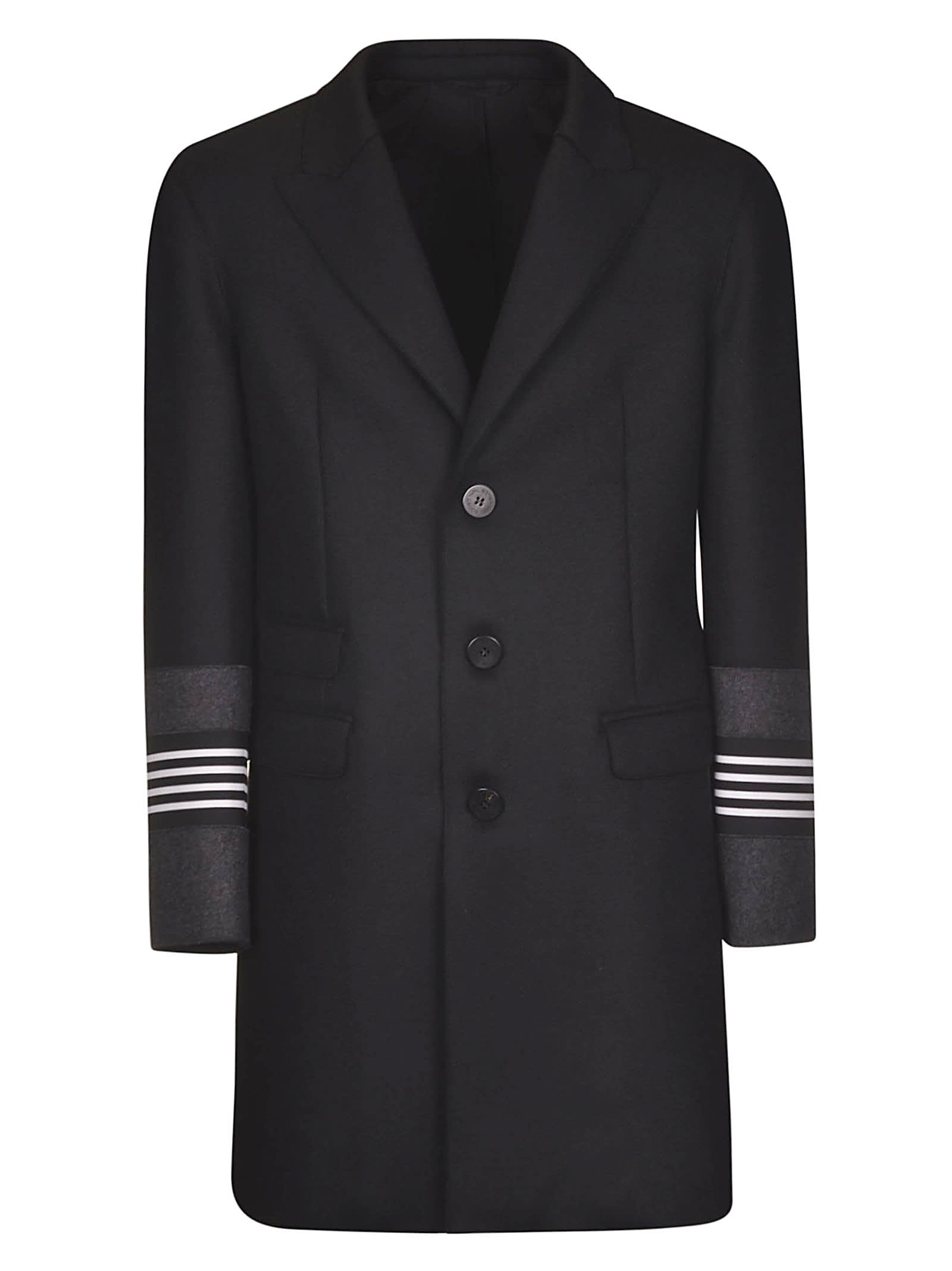 Neil Barrett Stripe Applique Coat