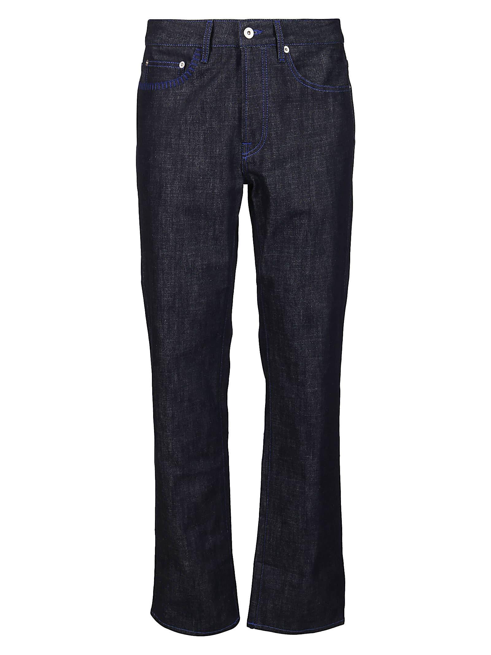 Marcelo Burlon County Of Milan Clothing DARK BLUE COTTON BLEND JEANS