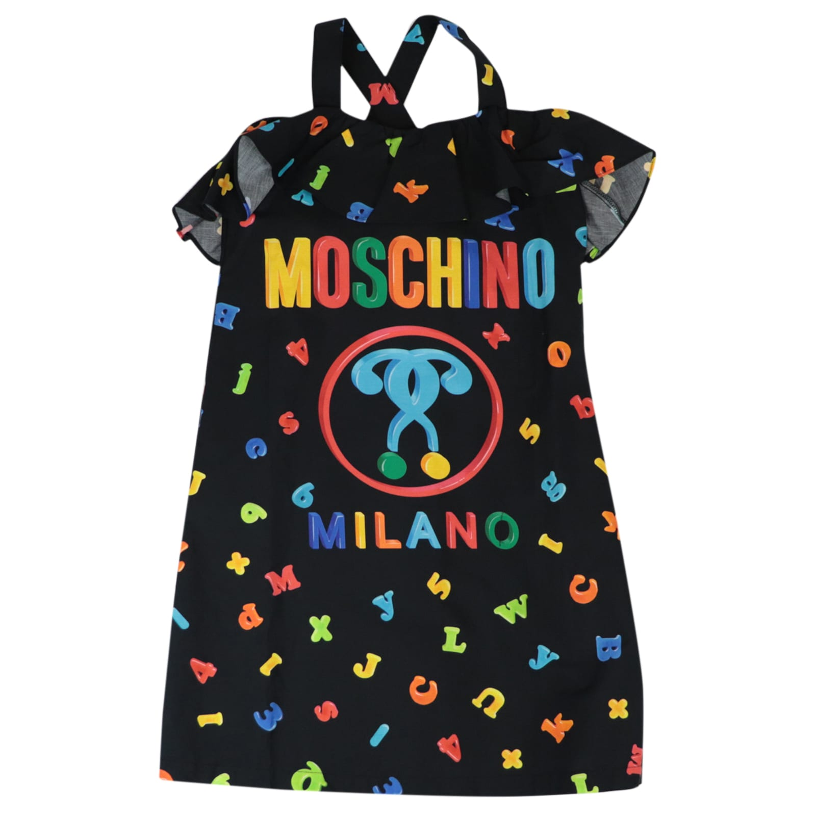 Buy Moschino Color Logo Dress online, shop Moschino with free shipping