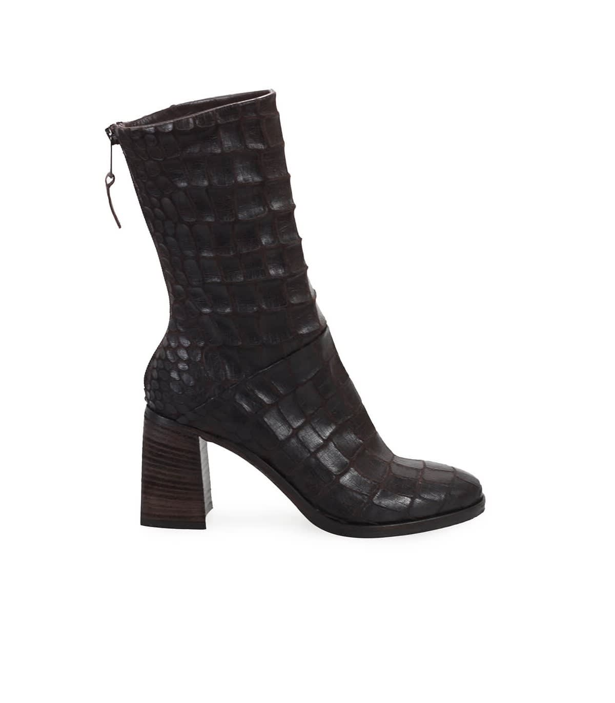 Strategia CROCODILE PRINT BROWN BOOTIE