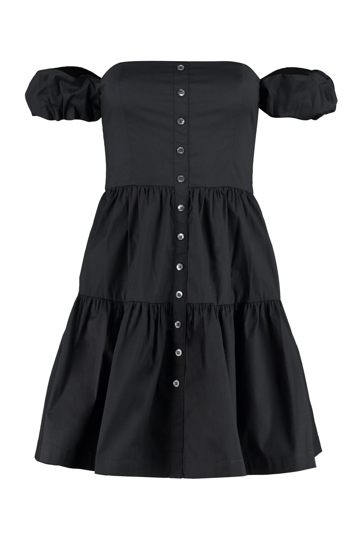Buy STAUD Elio Cotton Mini-dress online, shop STAUD with free shipping