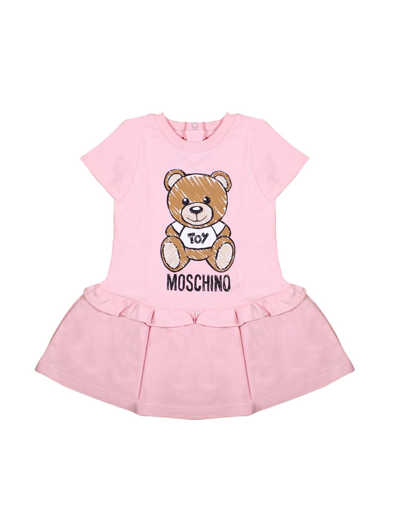 Moschino Pink Short-sleeved Dress Girl