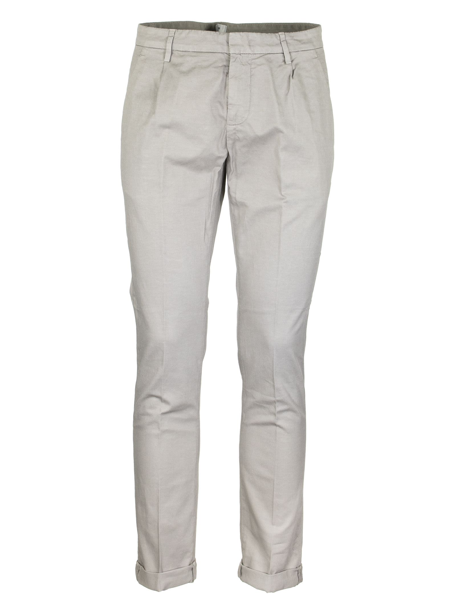 Dondup Gaubert Stretch Cotton And Linen Pants Trousers