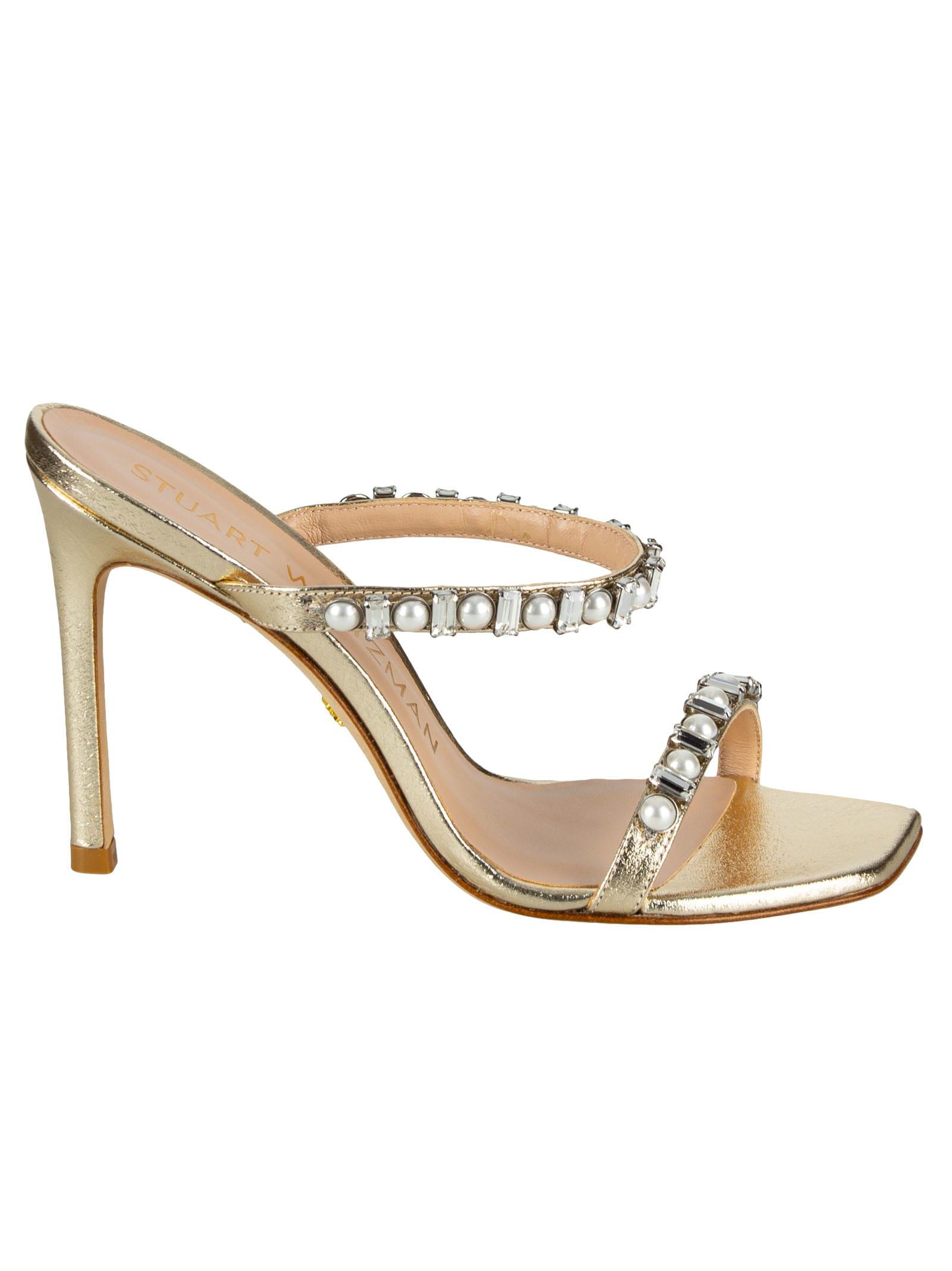 Buy Stuart Weitzman Aleena Shine Sandals online, shop Stuart Weitzman shoes with free shipping