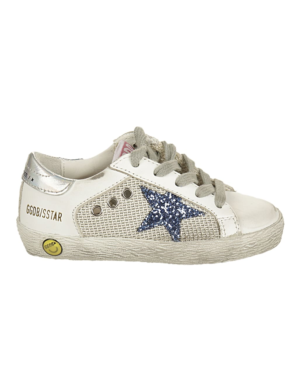 Golden Goose Leathers SUPERSTAR NET AND LEATHER RUPPER GLITTER STAR MIRR