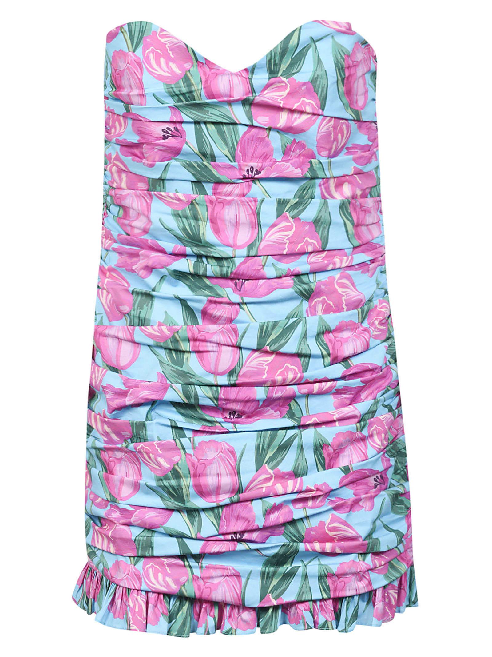 Buy Giuseppe di Morabito Rear Zip Floral Dress online, shop Giuseppe di Morabito with free shipping