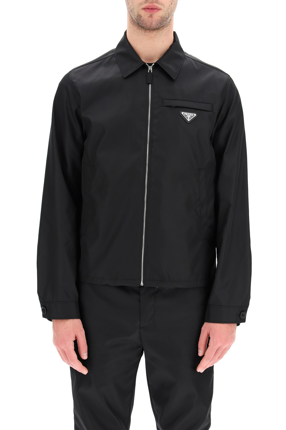 Prada RE-NYLON GABARDINE ZIP-UP BLOUSON