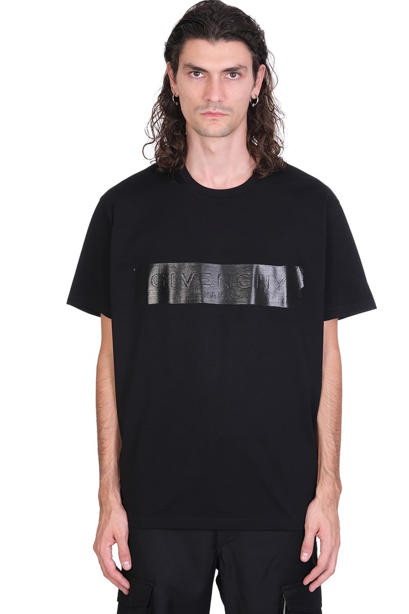 Givenchy Cottons LATEX BAND T-SHIRT IN BLACK COTTON