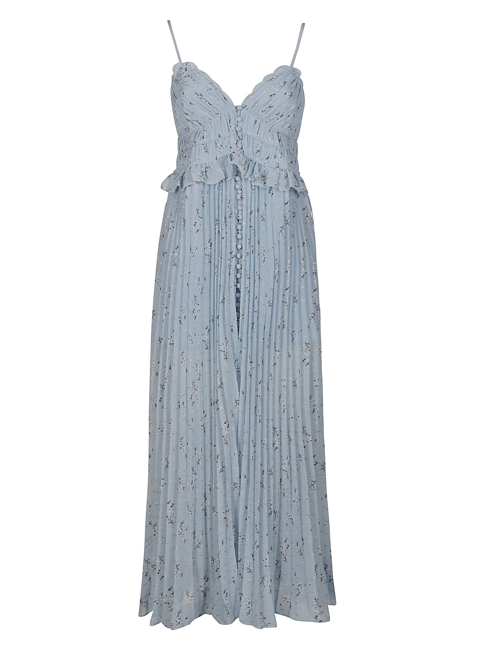 Buy Light Blue Maxi Dress online, shop self-portrait with free shipping