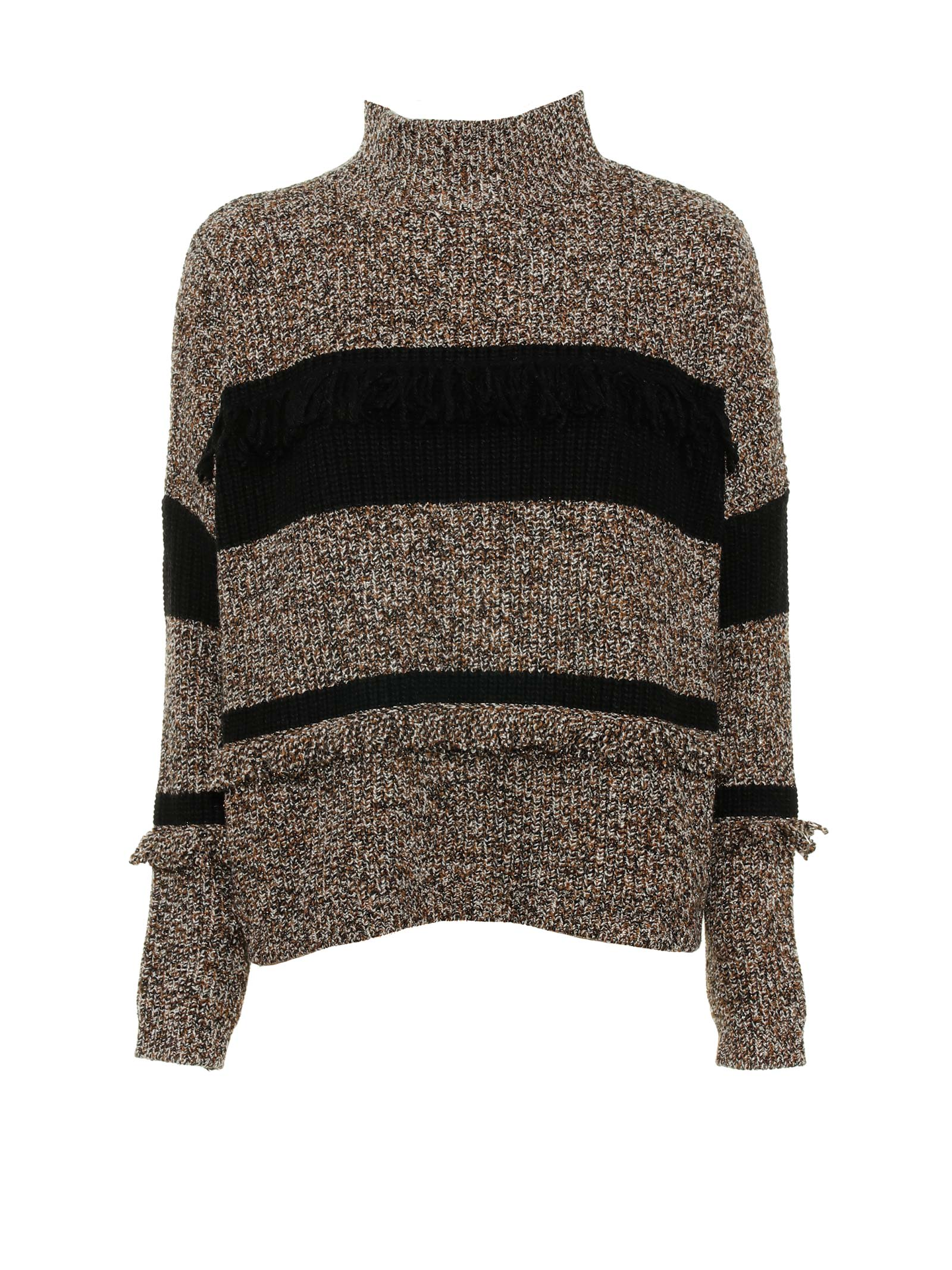 Sweater With Burnt Fringes