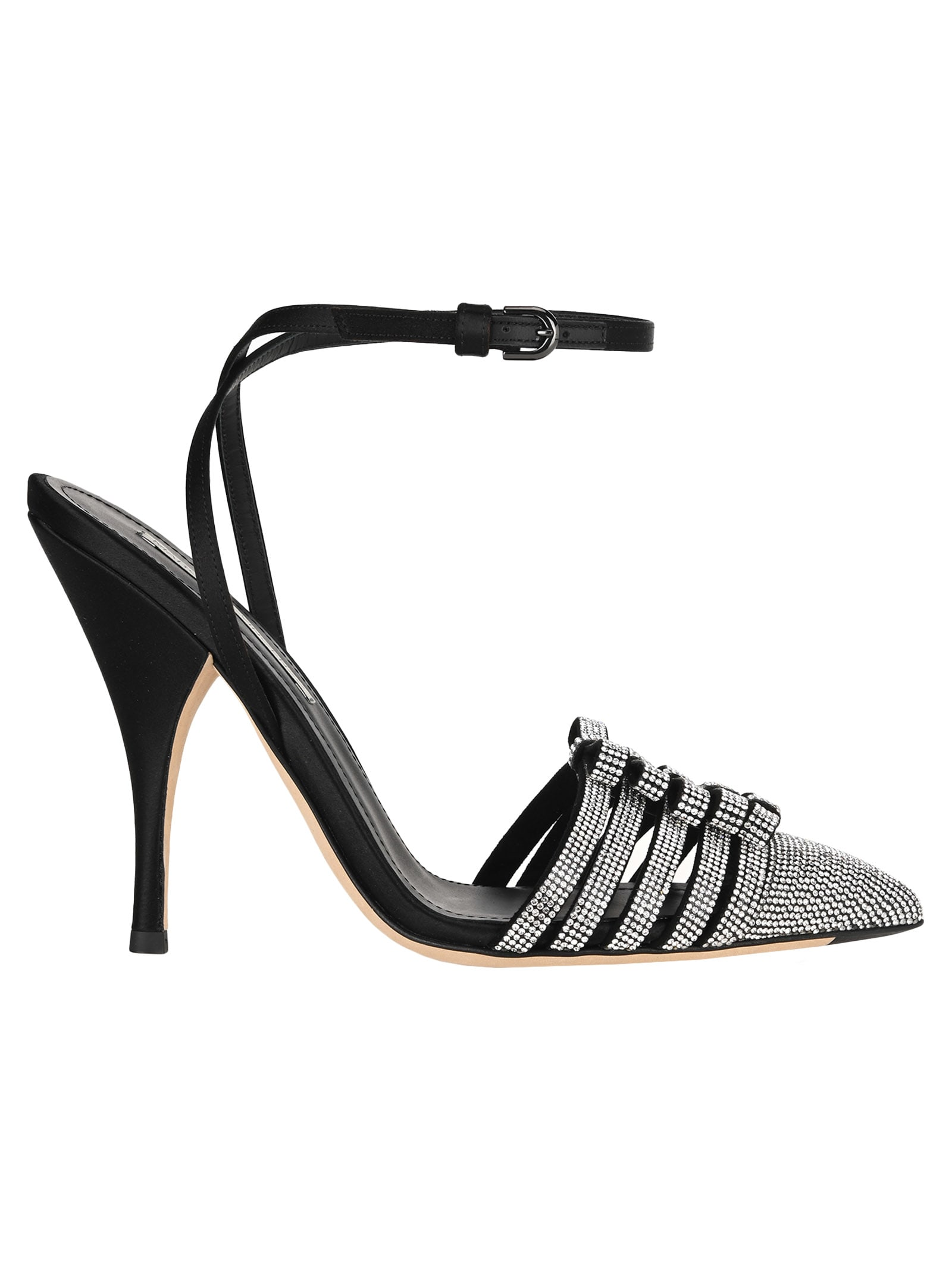 Marco De Vincenzo CRYSTAL-EMBELLISHED SANDALS