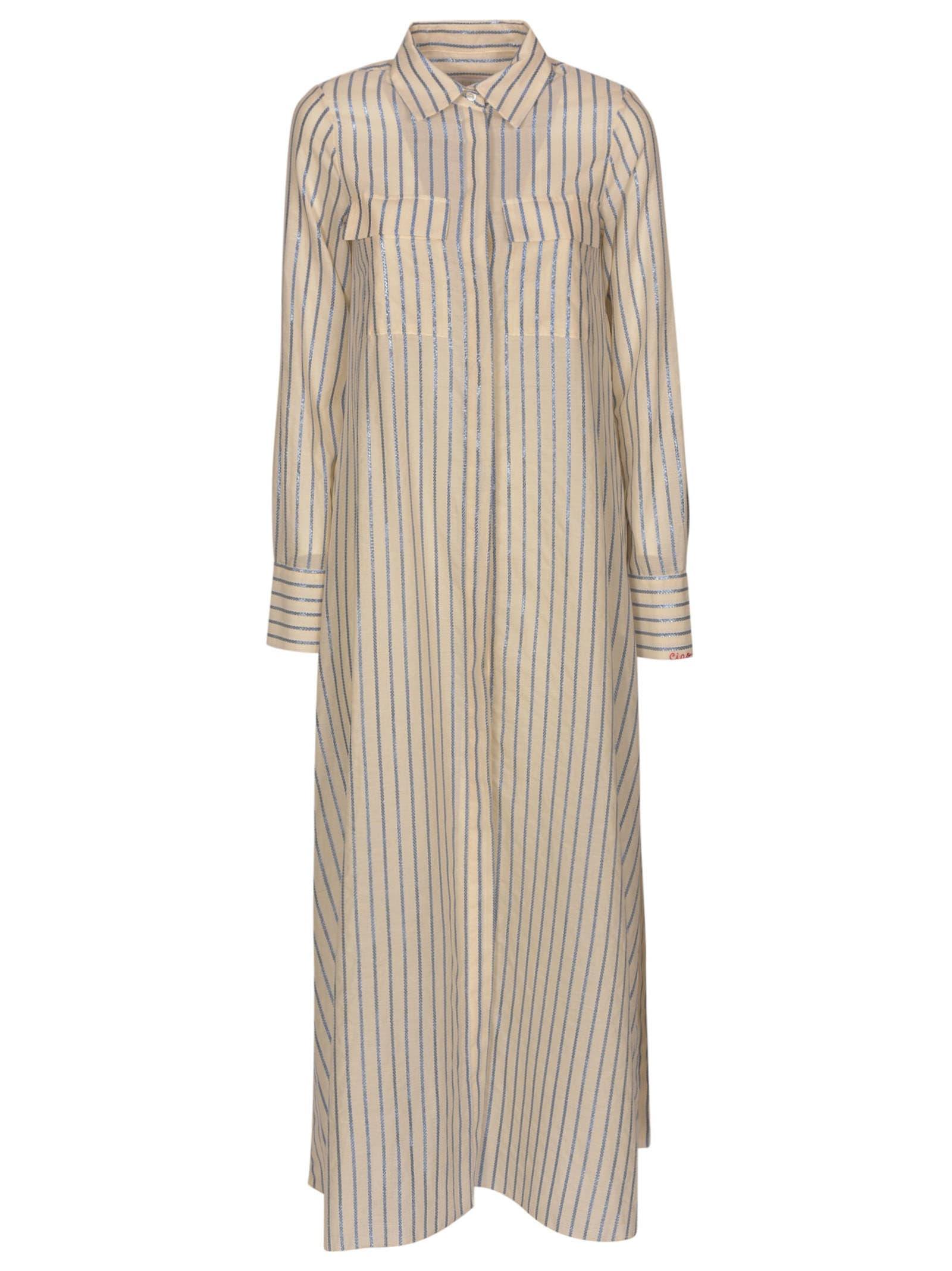 Giada Benincasa Stripe Shirt Dress