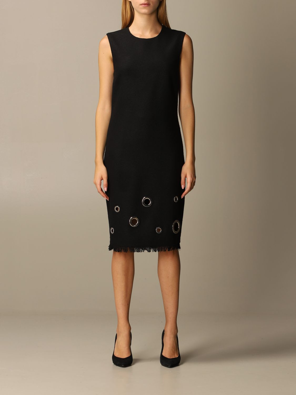 Boutique Moschino Dress Boutique Moschino Sheath Dress With Maxi Eyelets