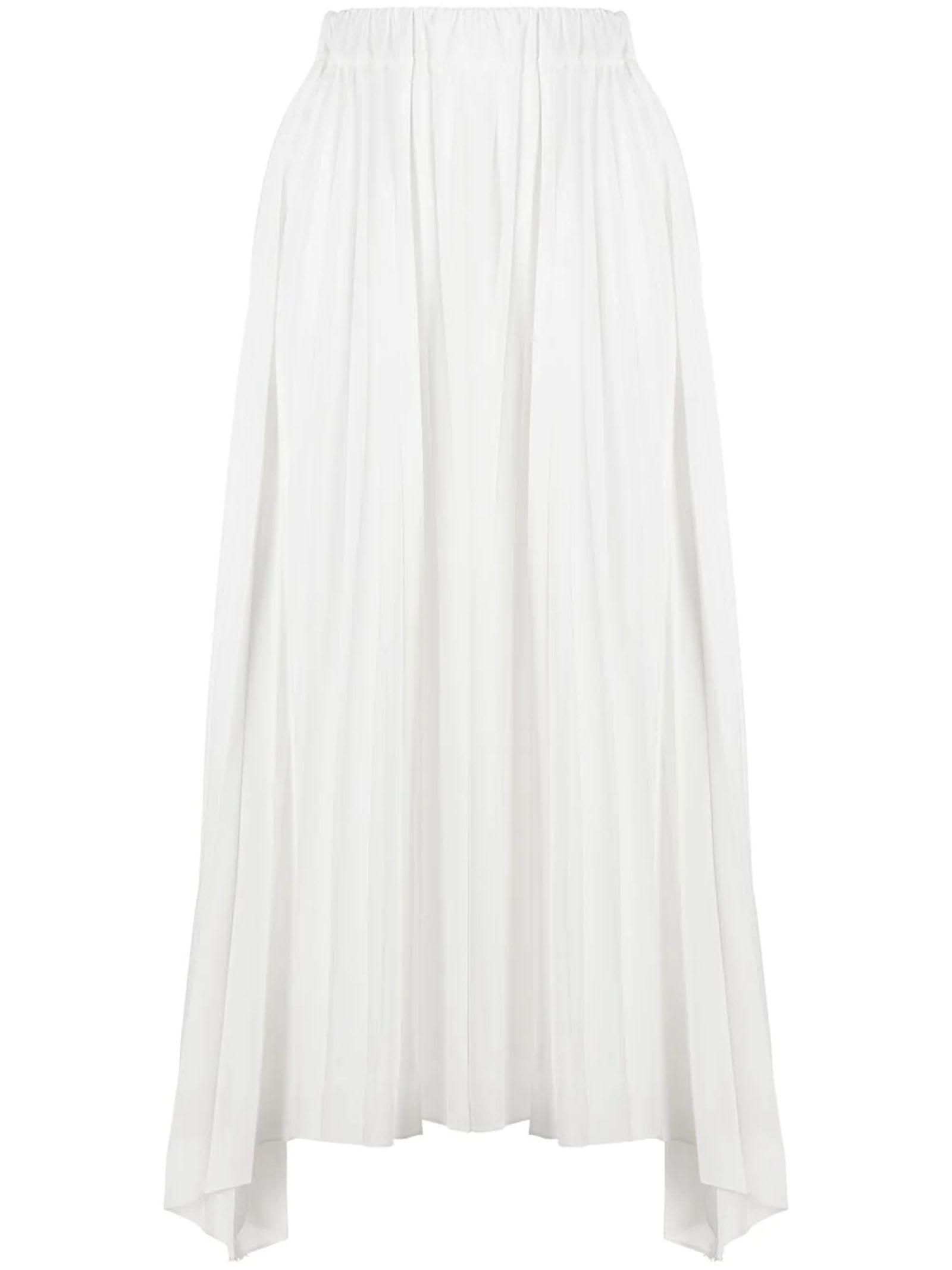 Antonelli Pleated skirts WHITE MIDI SKIRT