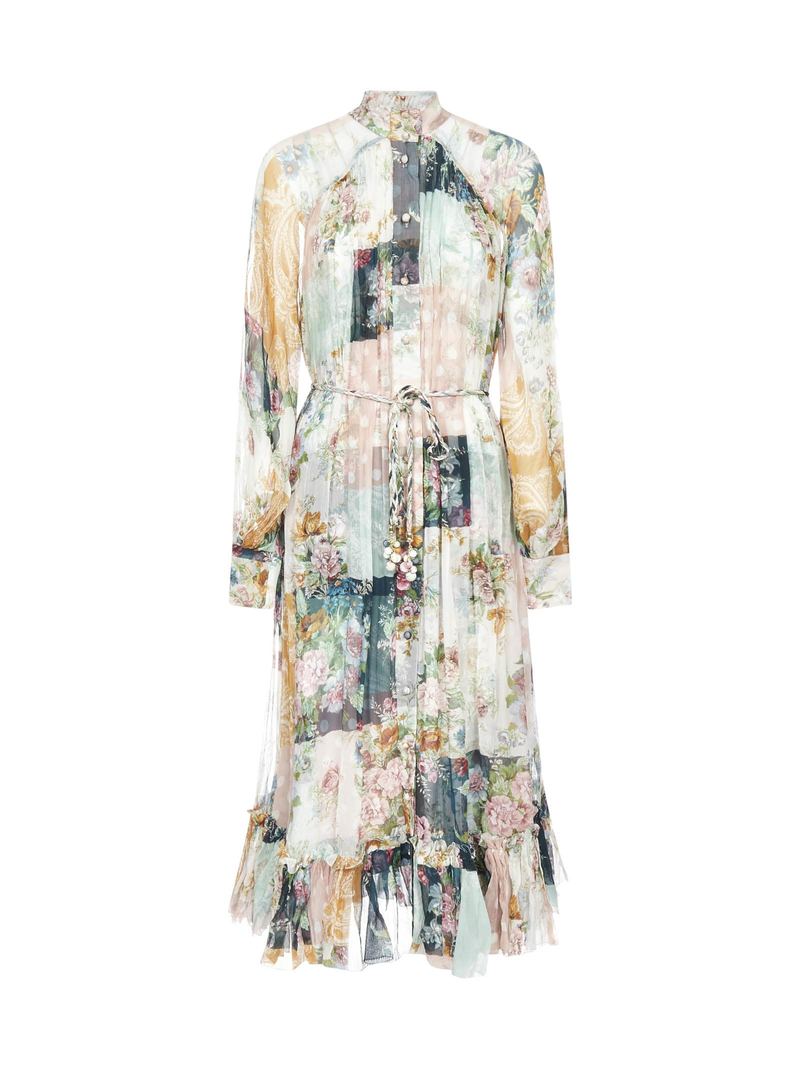 Buy Zimmermann Wavelength Smock Midi Dress online, shop Zimmermann with free shipping