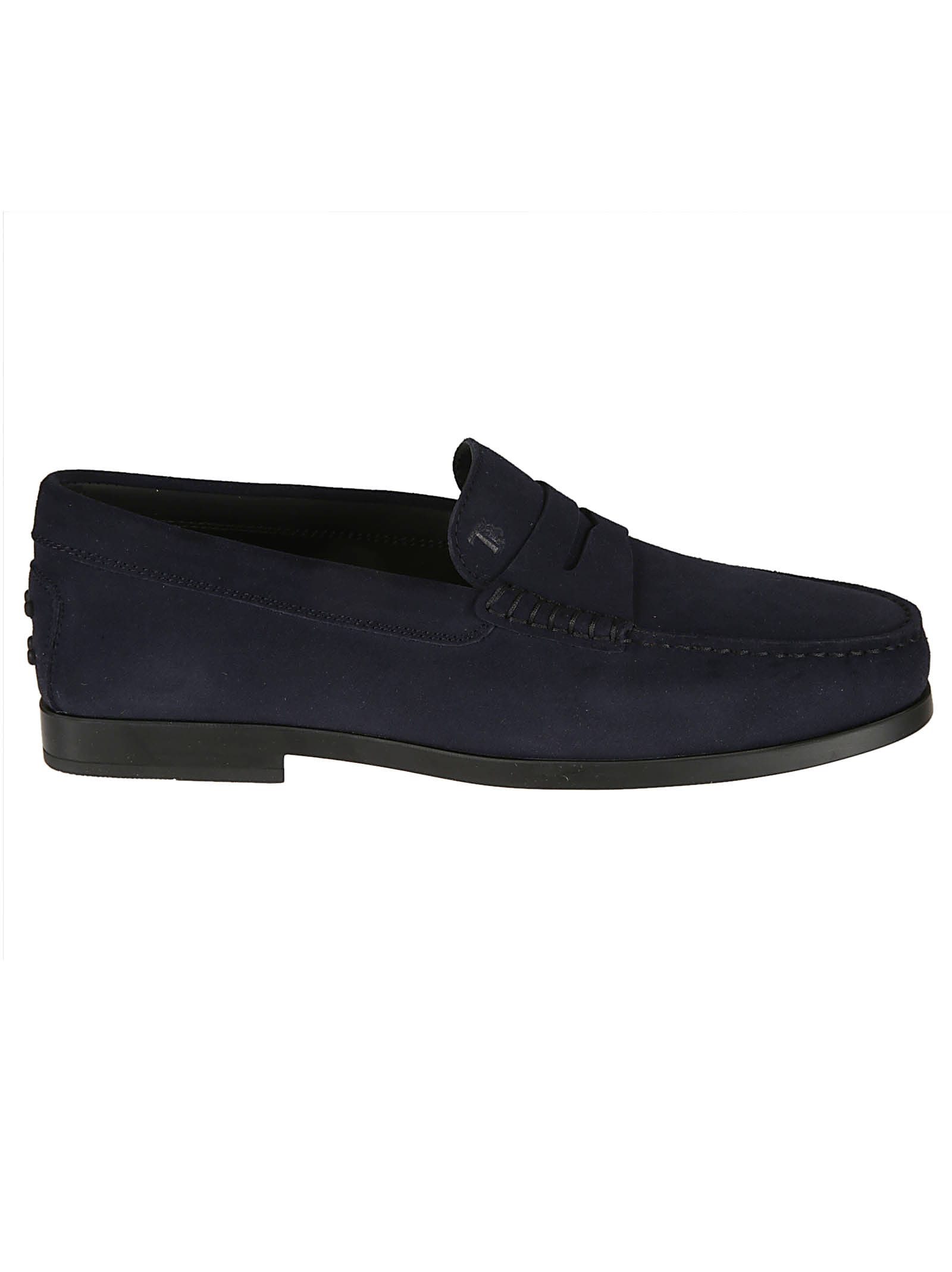 Tods Logo Plaque Loafers