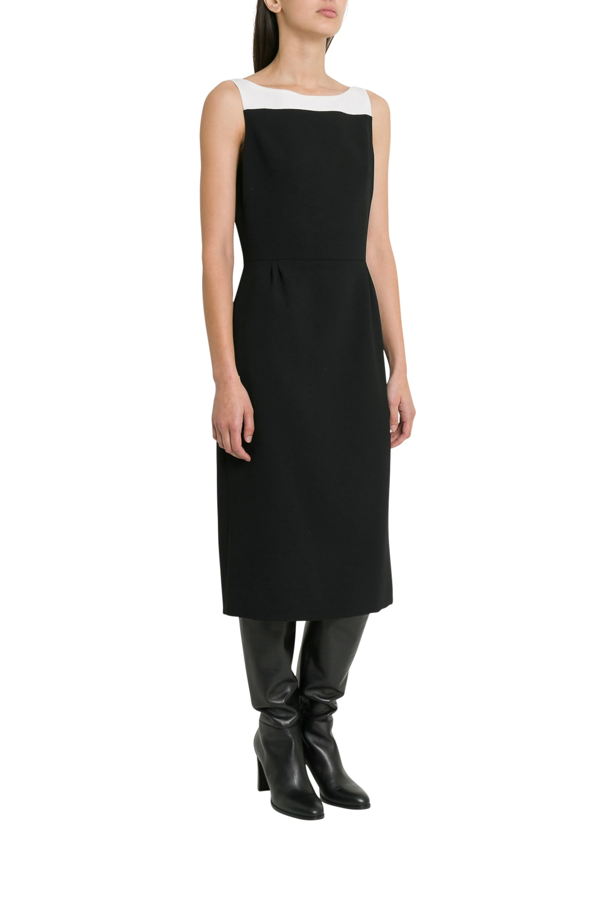 Buy Givenchy Colorblocked Wool Sleeveless Dress online, shop Givenchy with free shipping