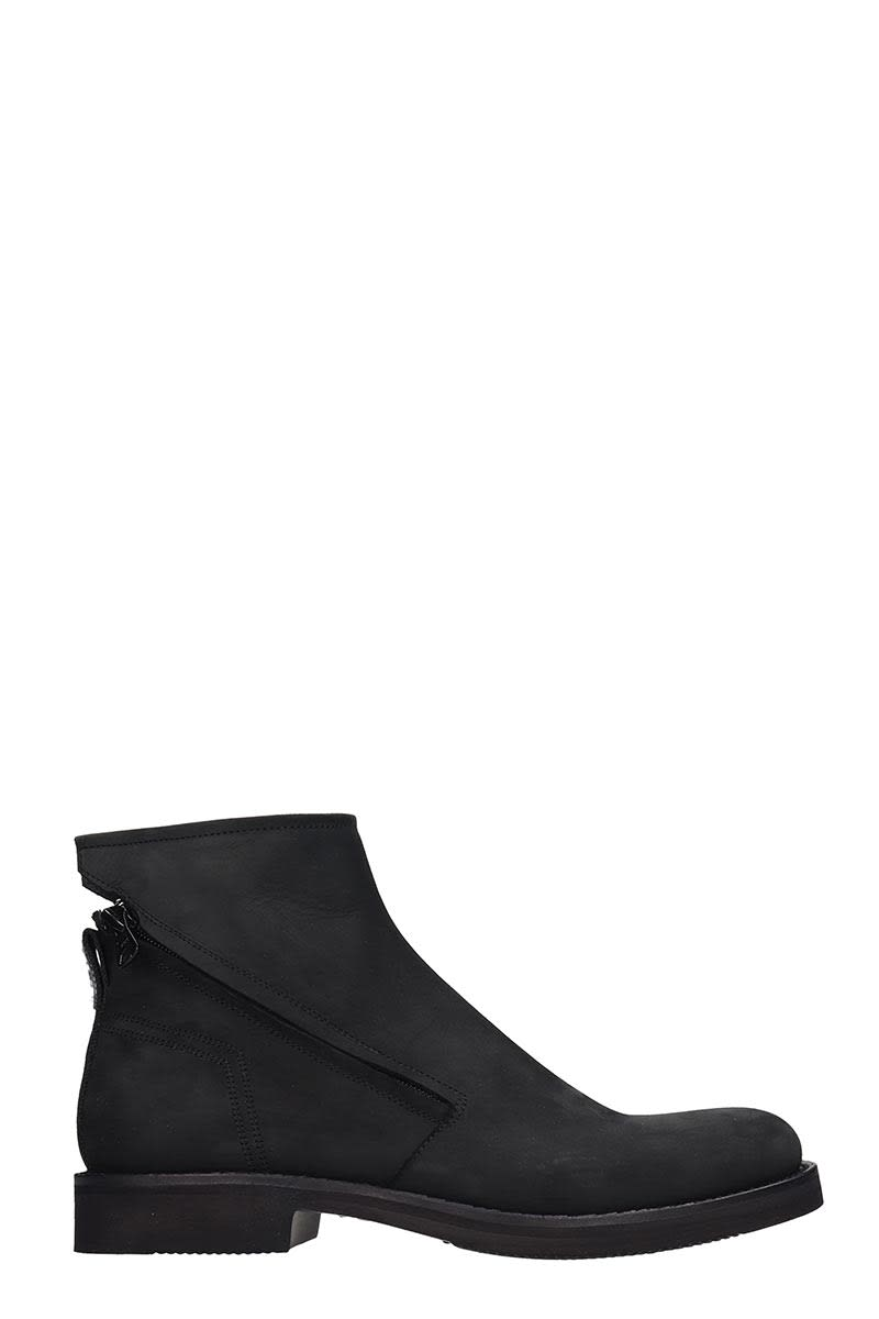 Bruno Bordese High Heels Ankle Boots In Black Leather