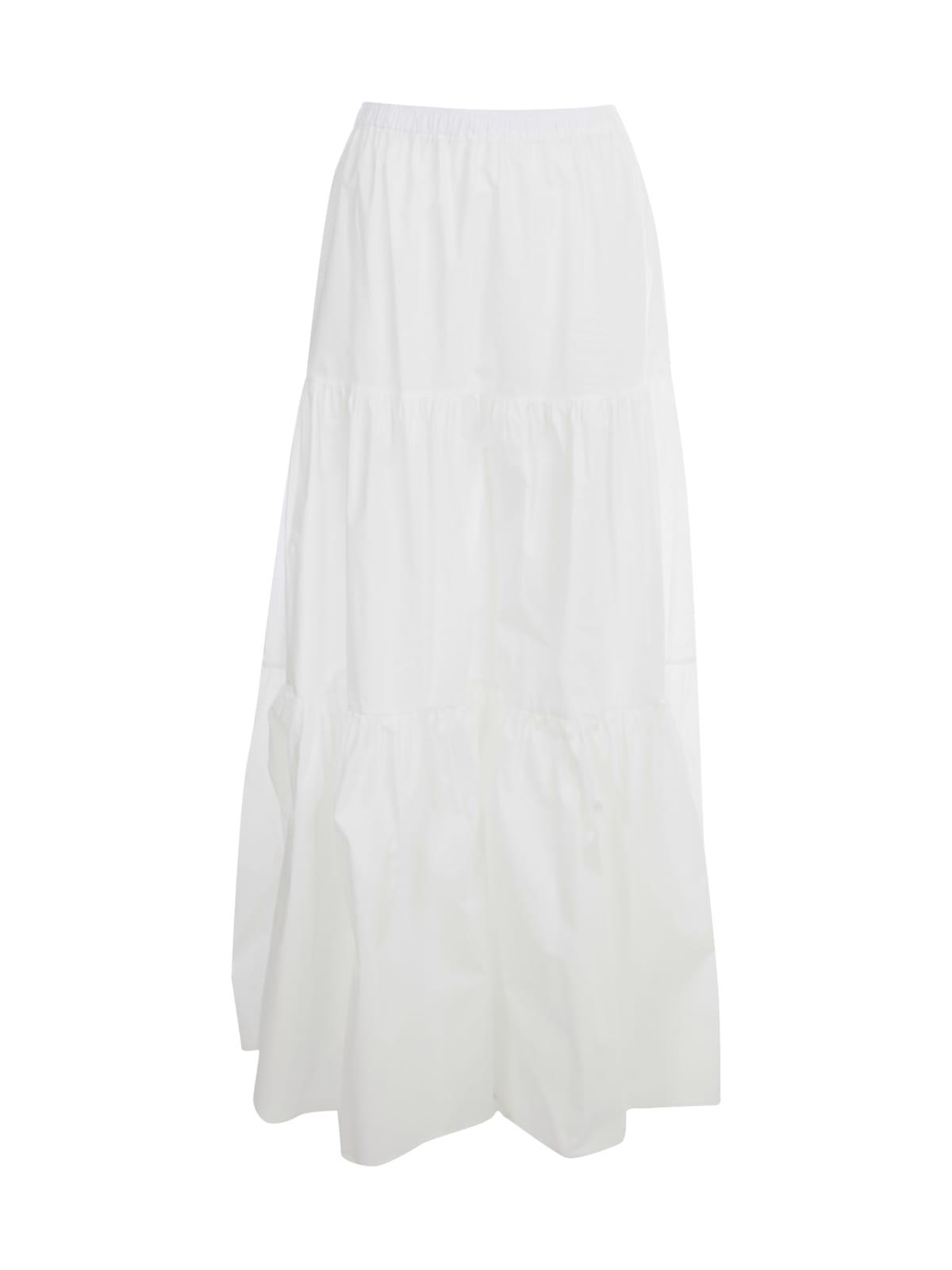 Semicouture Maxi skirts FELICIE LONG SKIRT W/FLOUNCE
