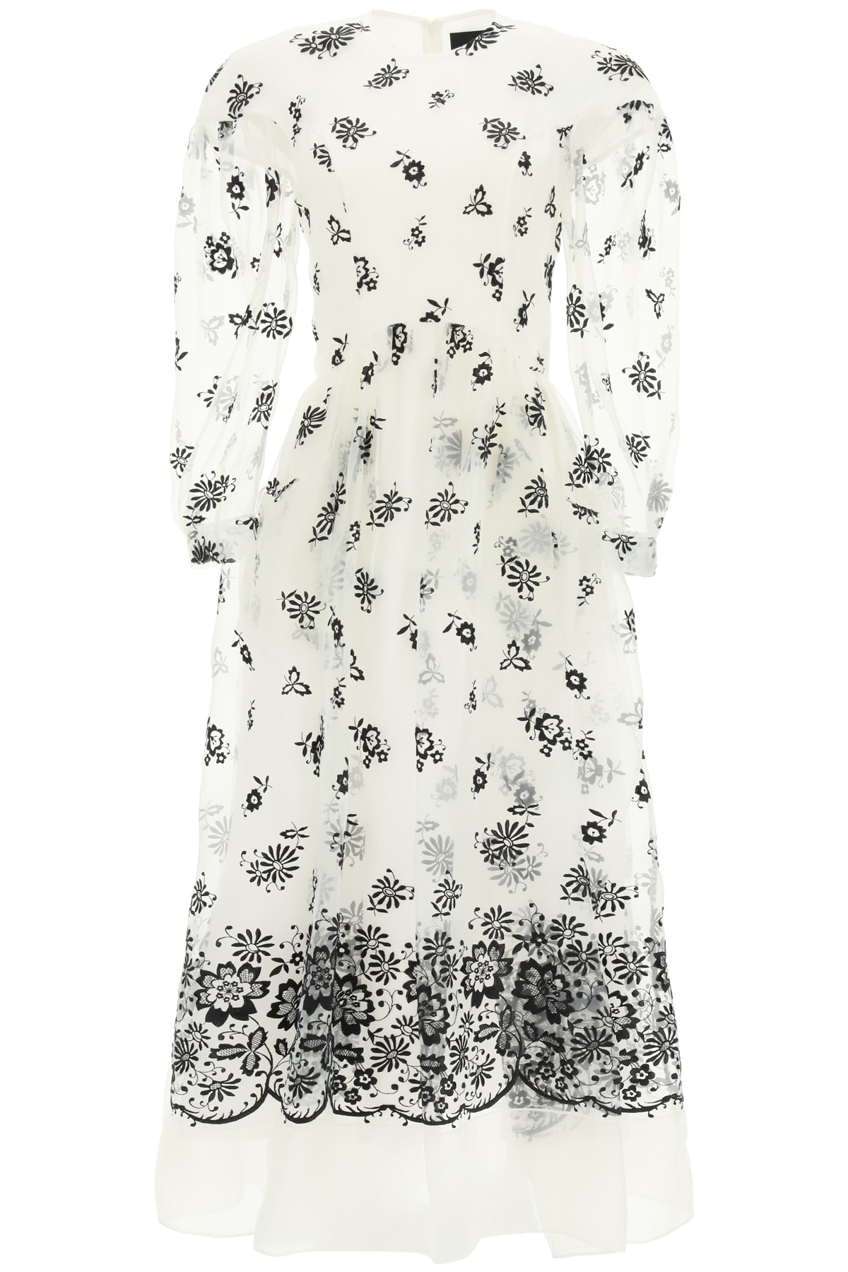 Simone Rocha Linings EMBROIDERED ORGANZA DRESS