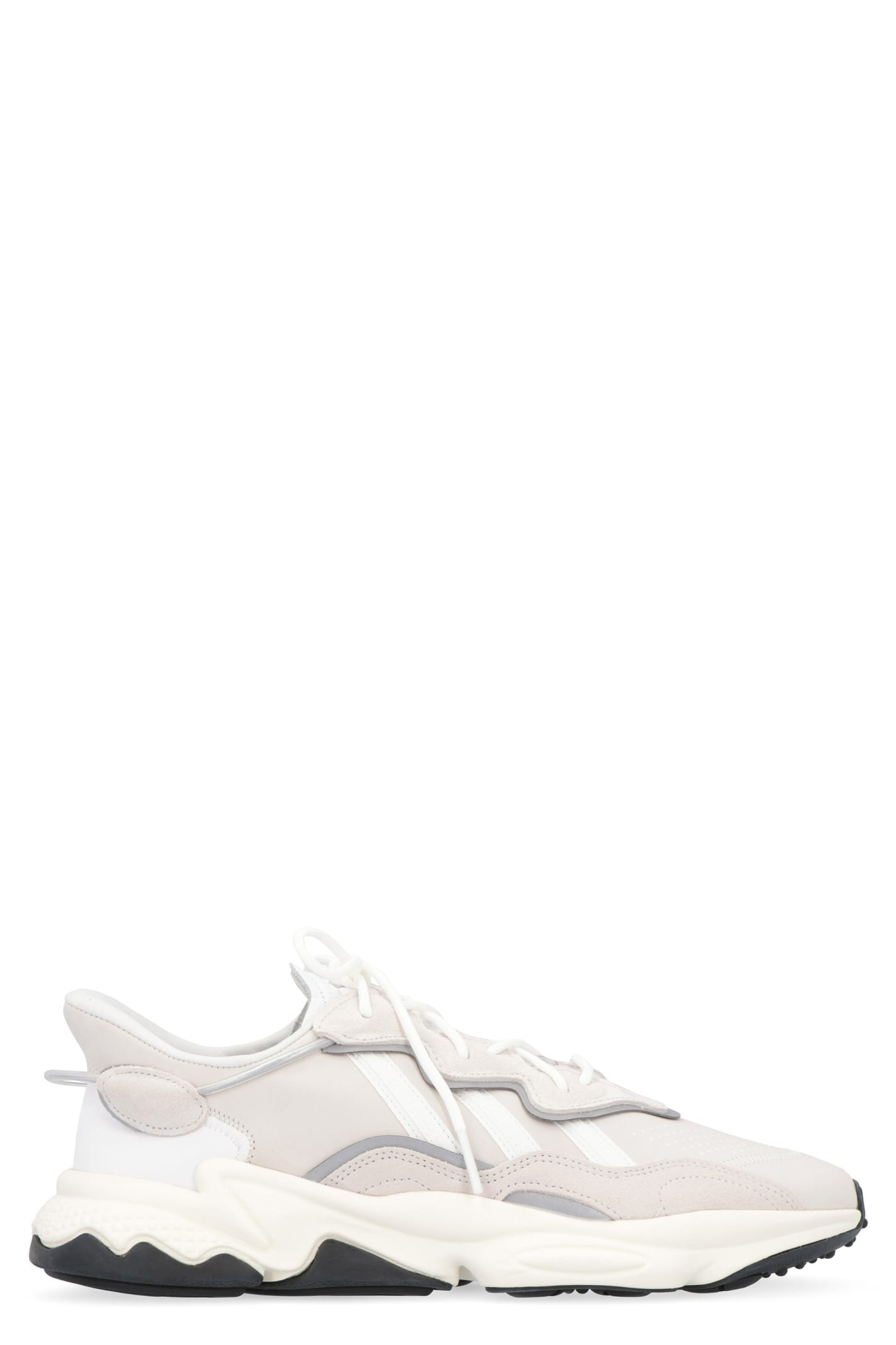 Ozweego Leather And Fabric Low-top Sneakers In Beige
