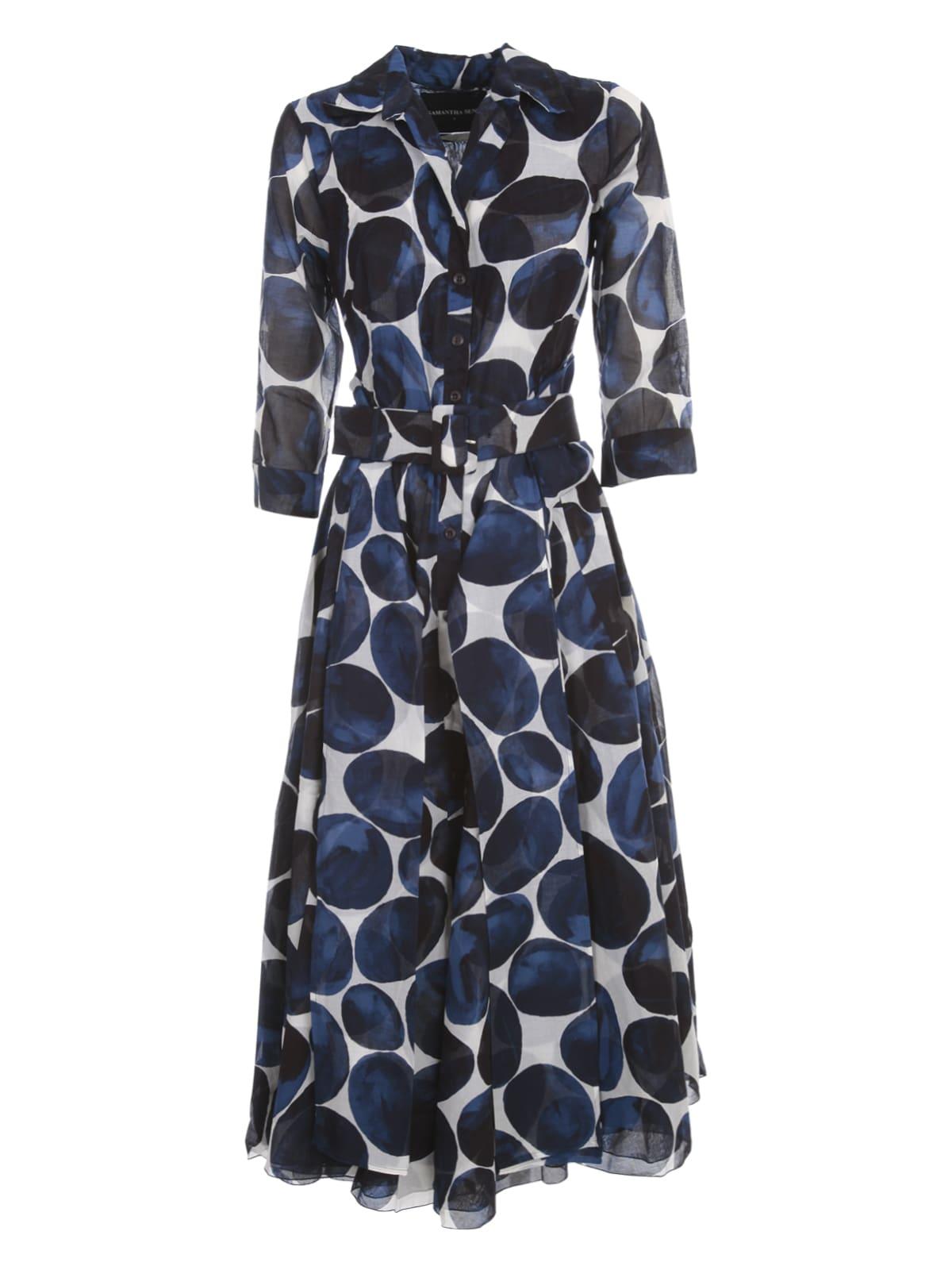 Buy Samantha Sung Aster Musola Midi Dress S/s Boat Neck online, shop Samantha Sung with free shipping
