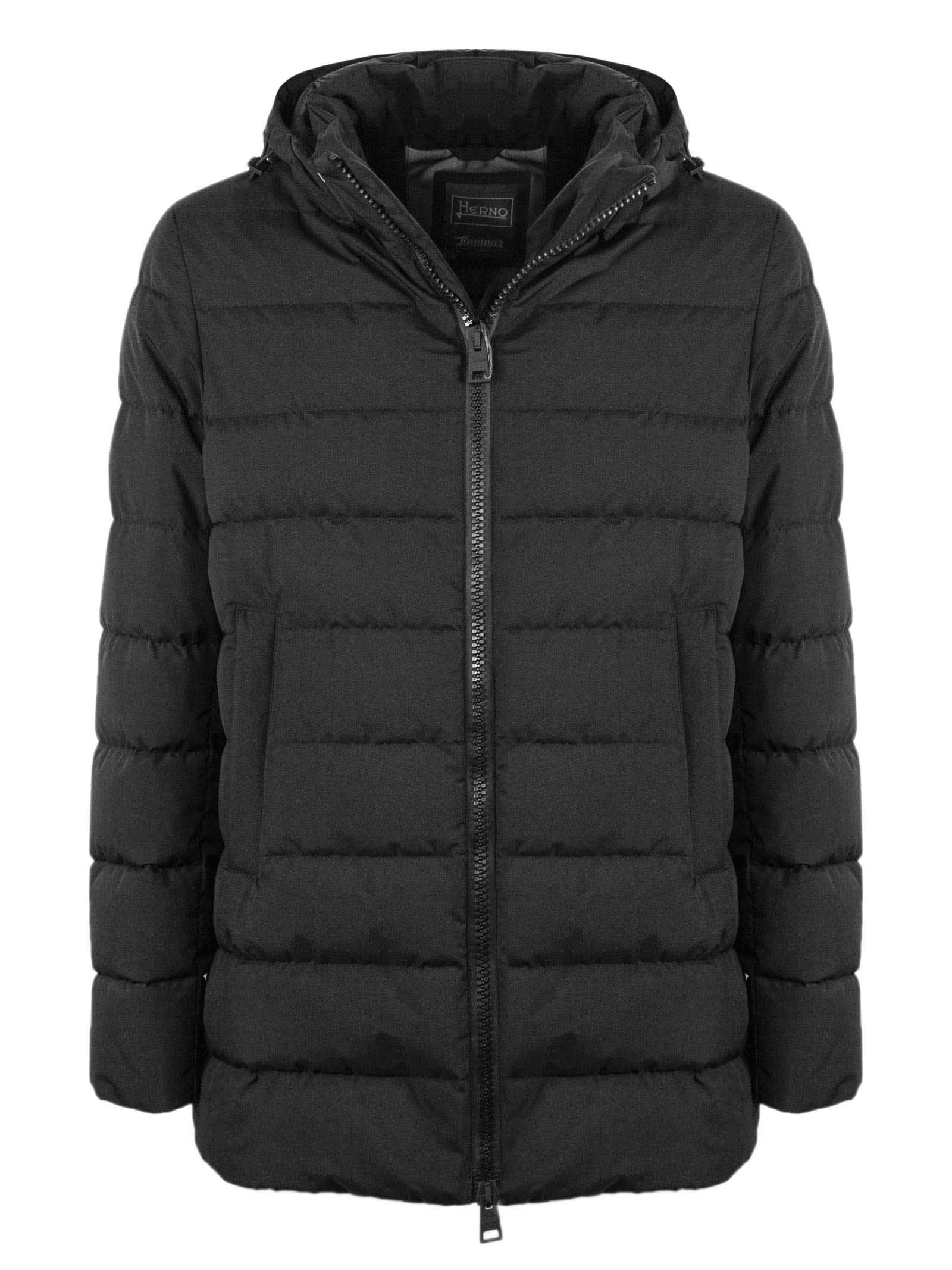 Herno Black Hooded Down Jacket
