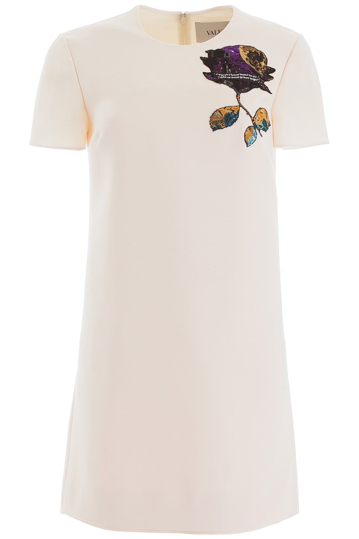 Valentino Cosmos Patch Mini Dress
