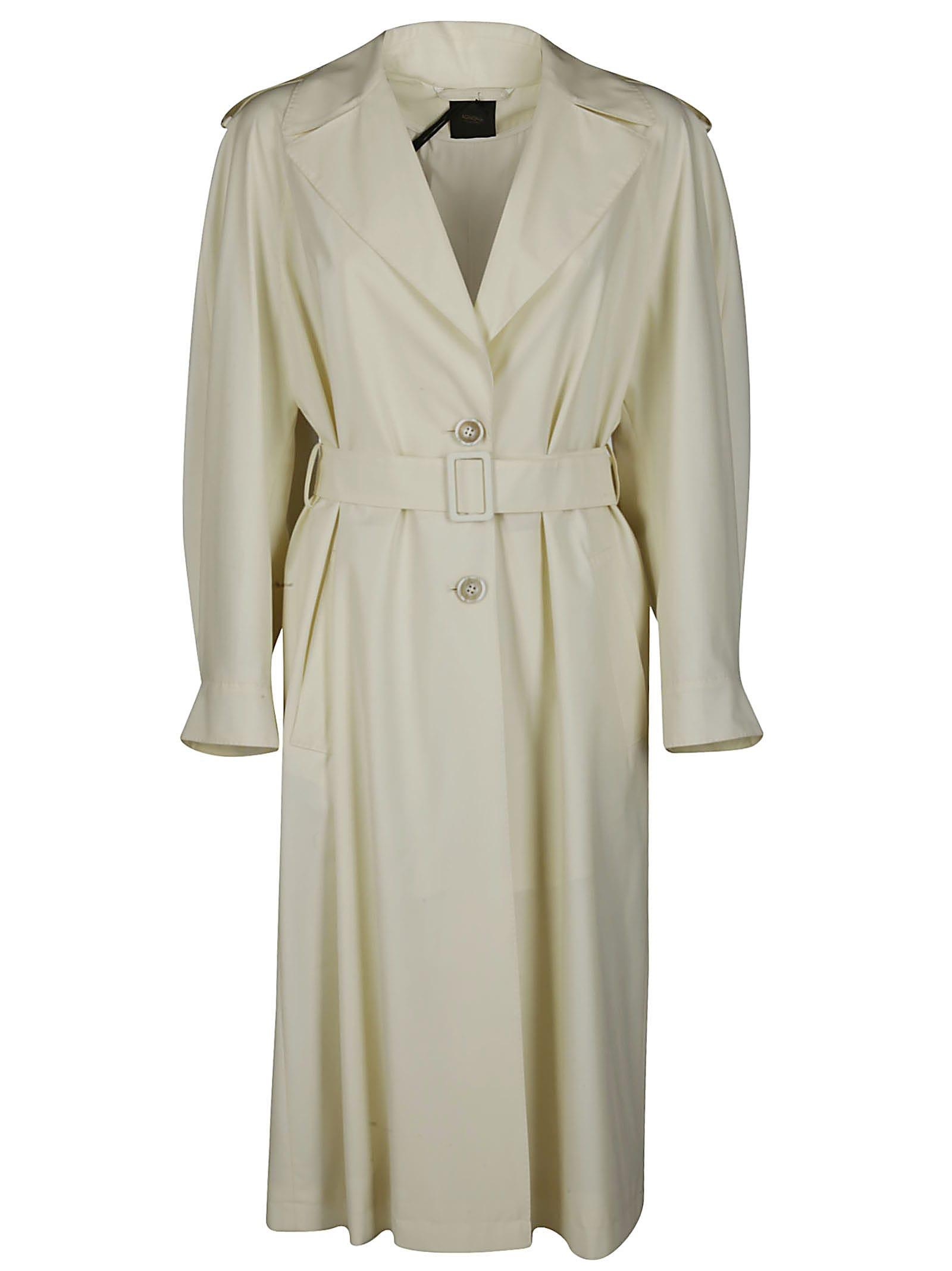 Agnona White Wool Eternals Trench Coat In Cream