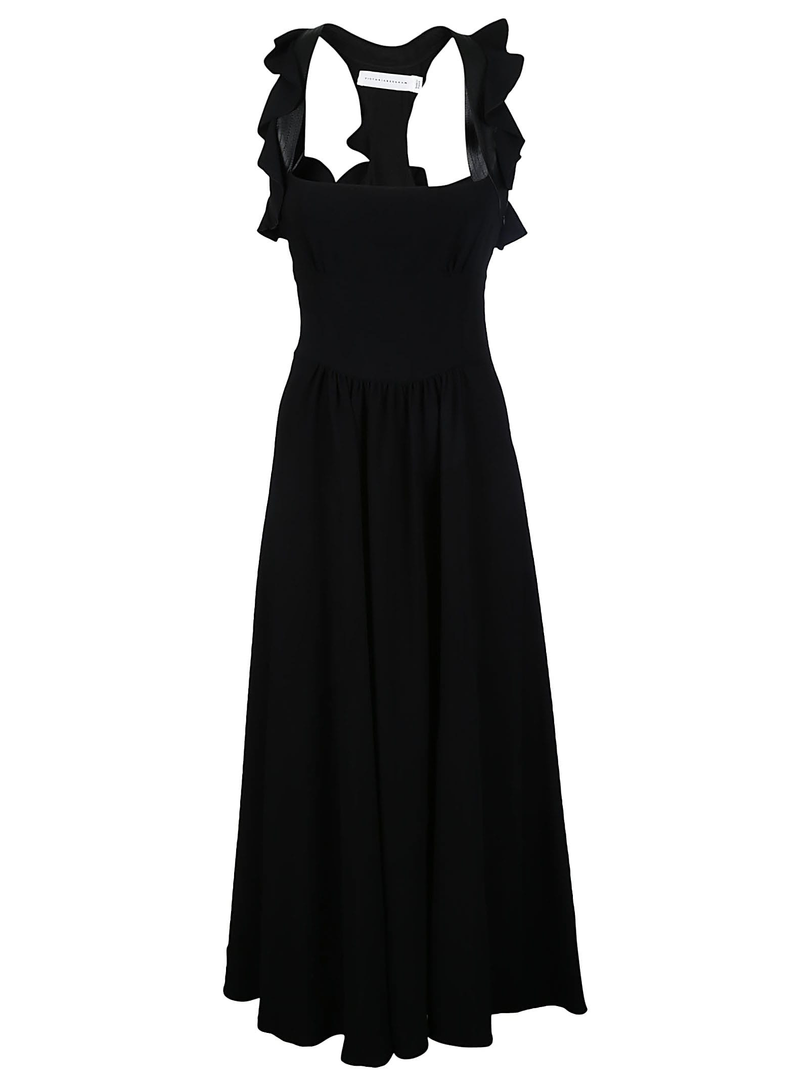 Victoria Beckham Long Ruffle Dress