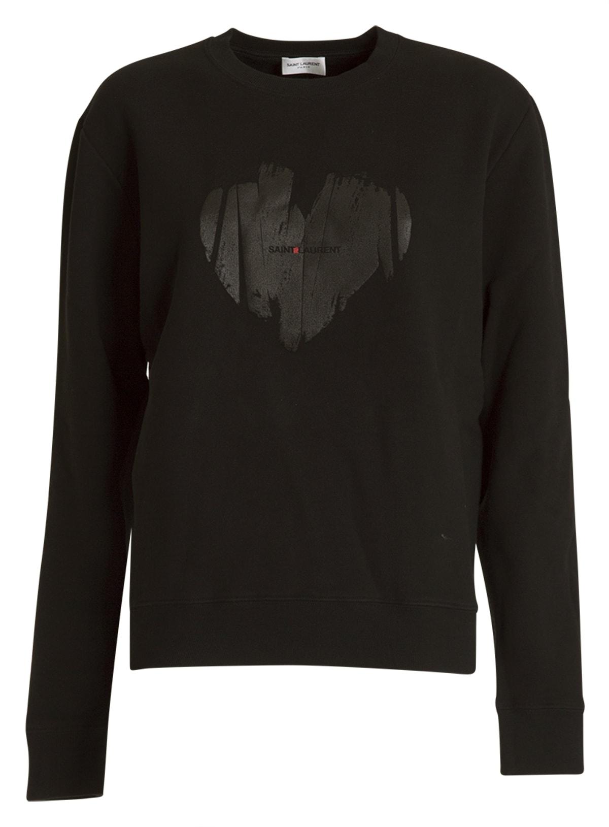 Saint Laurent Heart Logo Sweatshirt