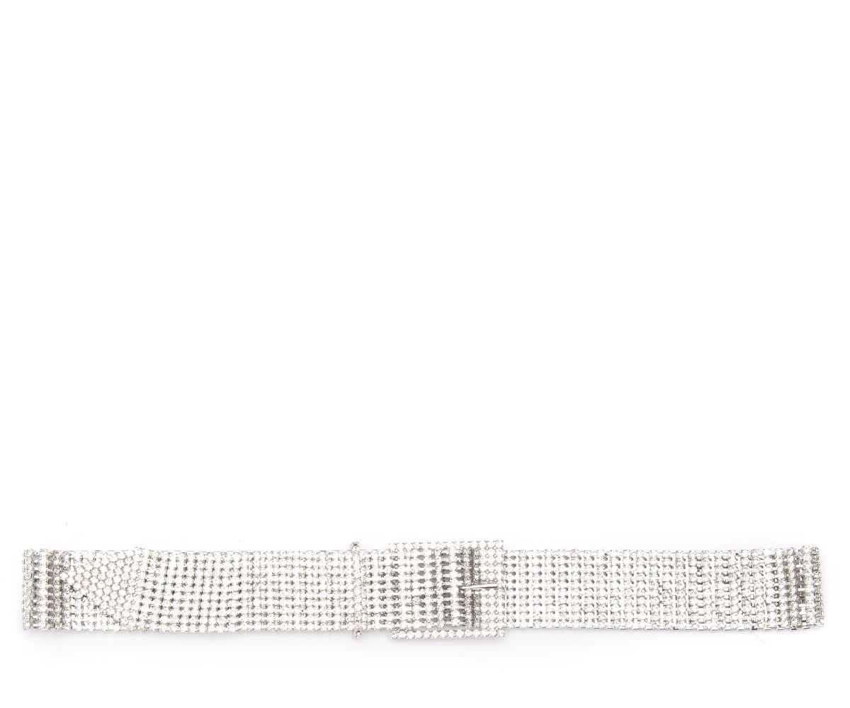 B-low The Belt Farah Model With Silver Crystals In Argento