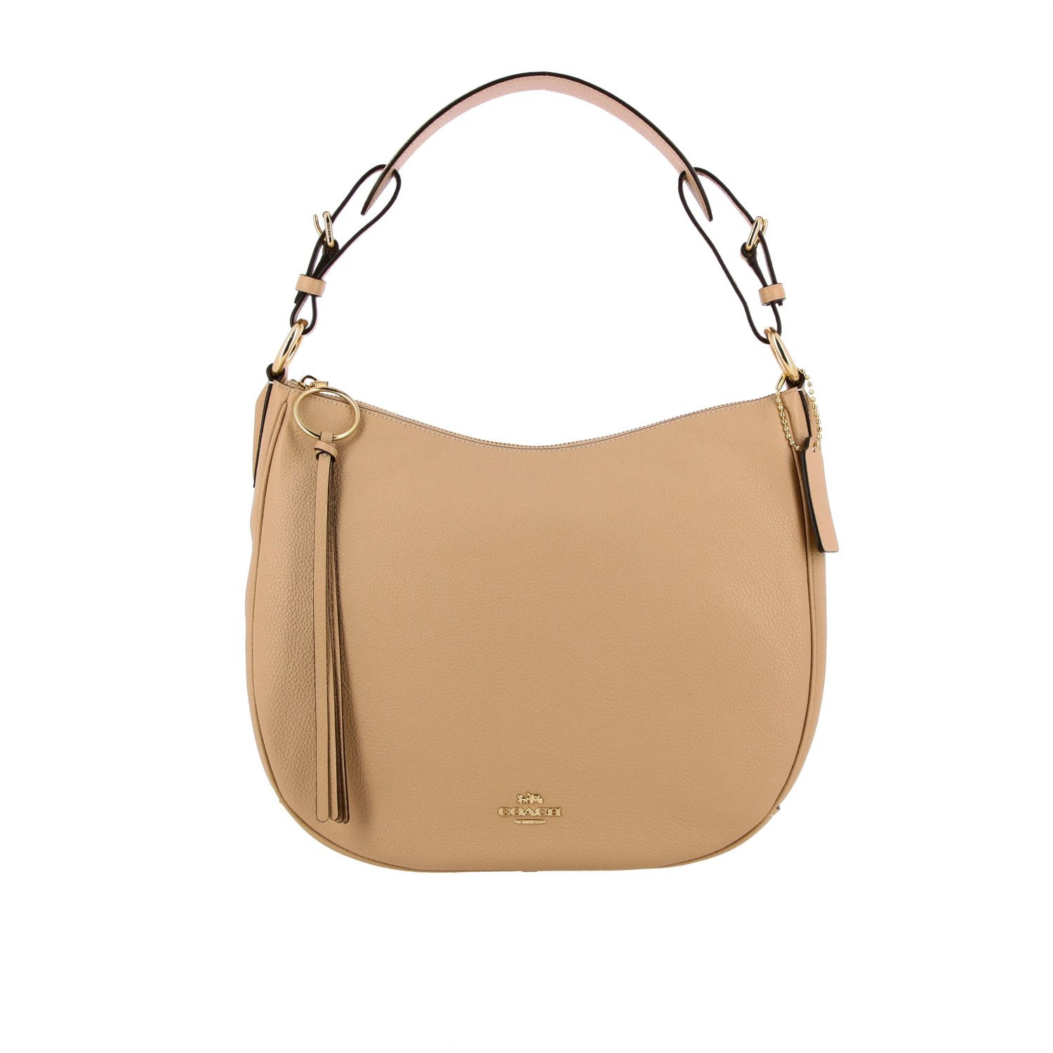 Coach SUTTON HOBO BAG IN TEXTURED LEATHER