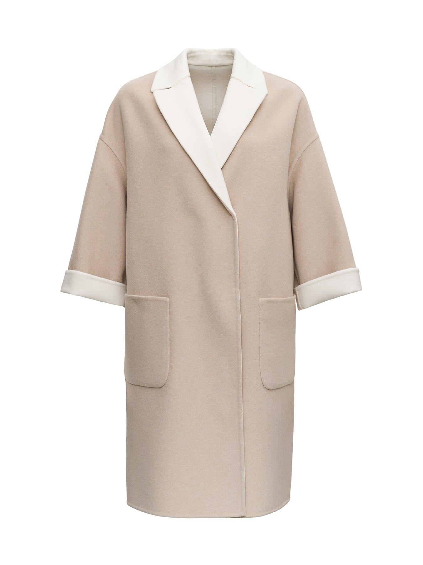 Brunello Cucinelli Double Face Coat In Cashmere
