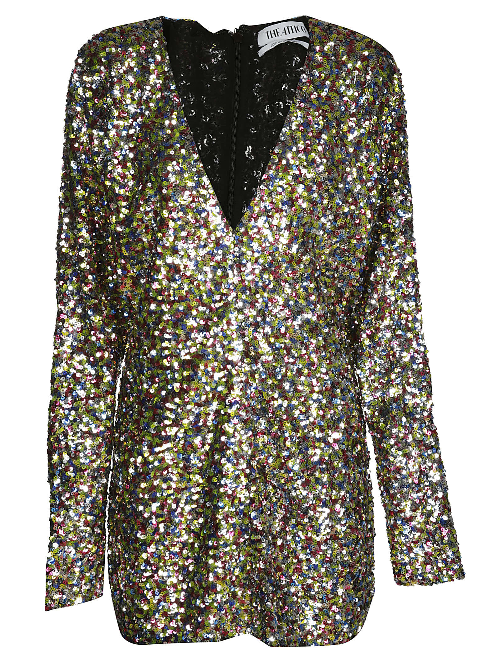 The Attico Sequin-embellished Mini Dress
