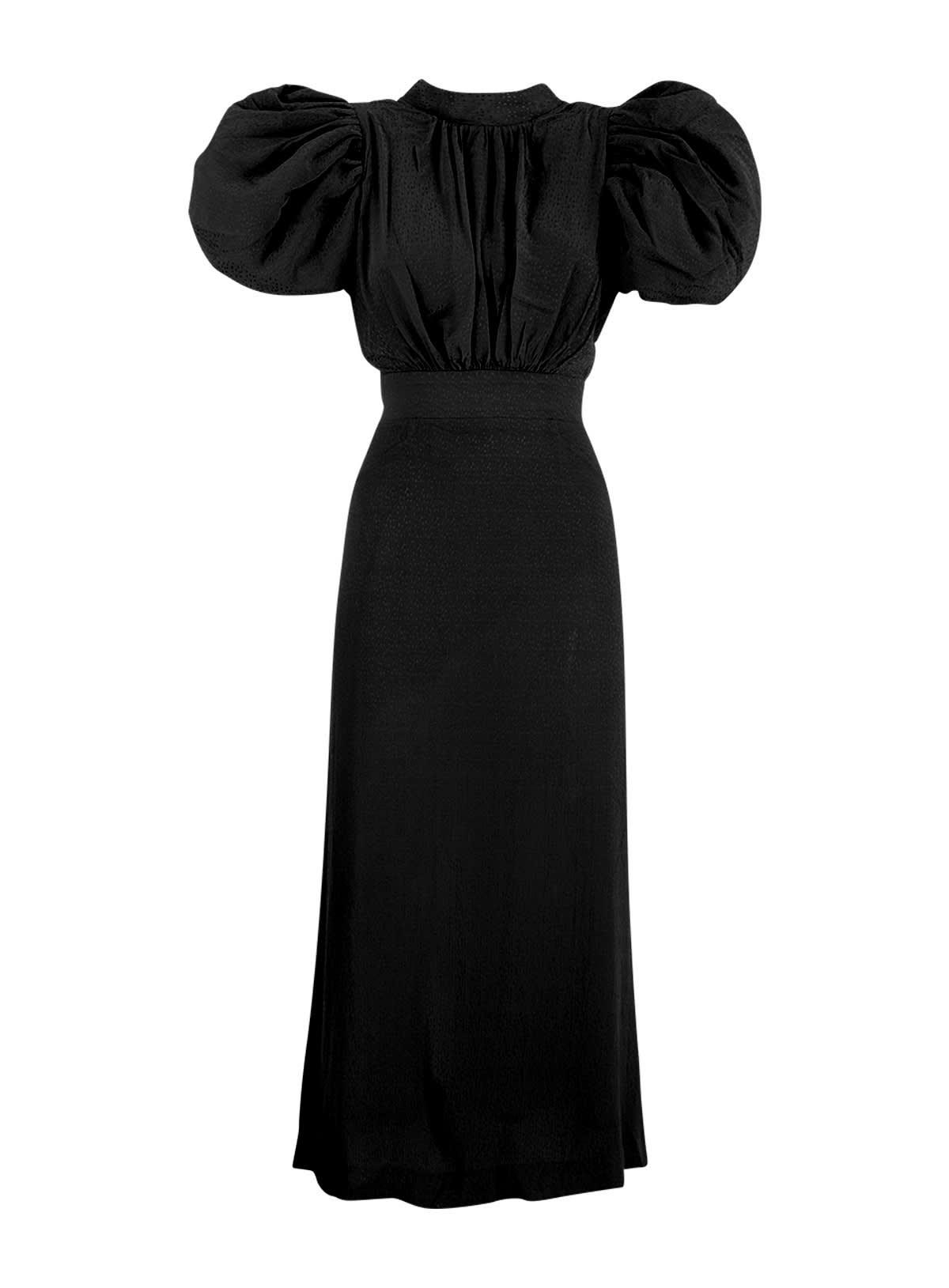 Rotate Birger Christensen Dresses ROTATE DAWN PUFF SLEEVE DRESS