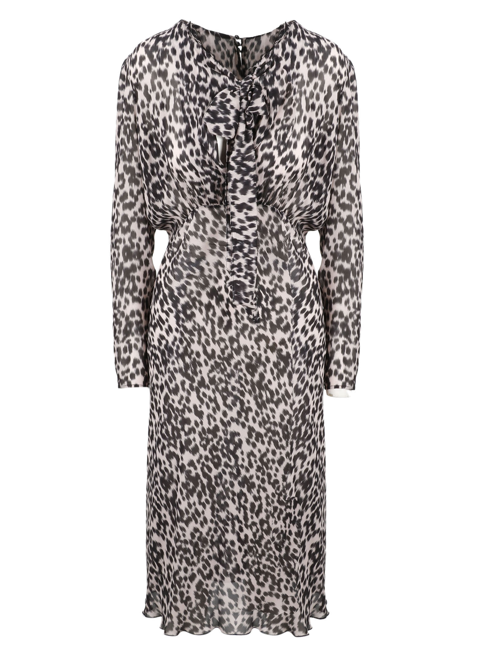 Animalier Midi Dress