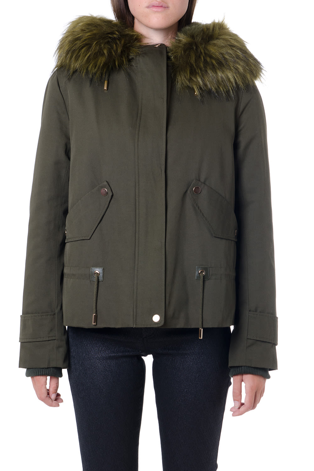 Dondup Kakhi Technical Parka Jacket