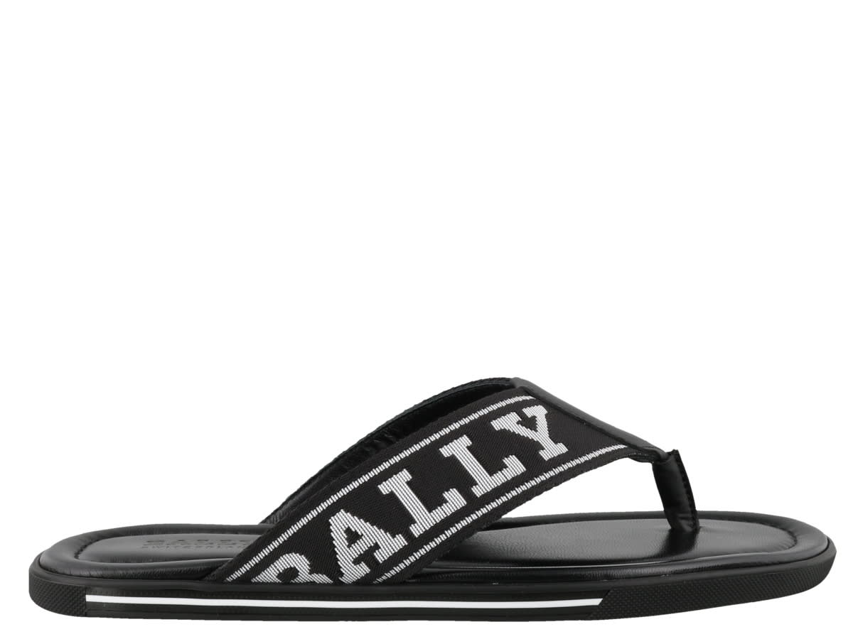 Bally Synthetic, Rubber In Black/white