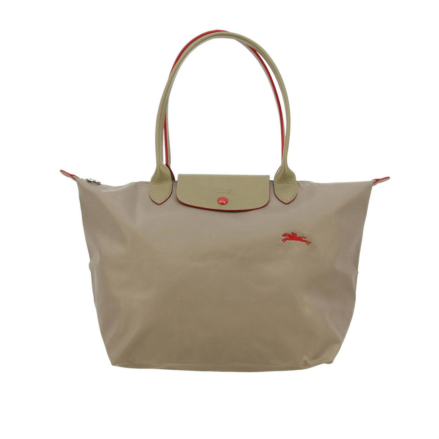 Longchamp In Nylon In Dove Grey
