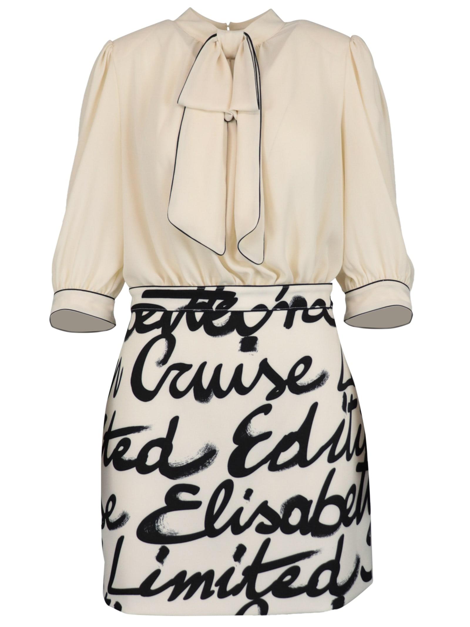 Buy Elisabetta Franchi Celyn B. Crepe Maxi Logo Dress online, shop Elisabetta Franchi Celyn B. with free shipping