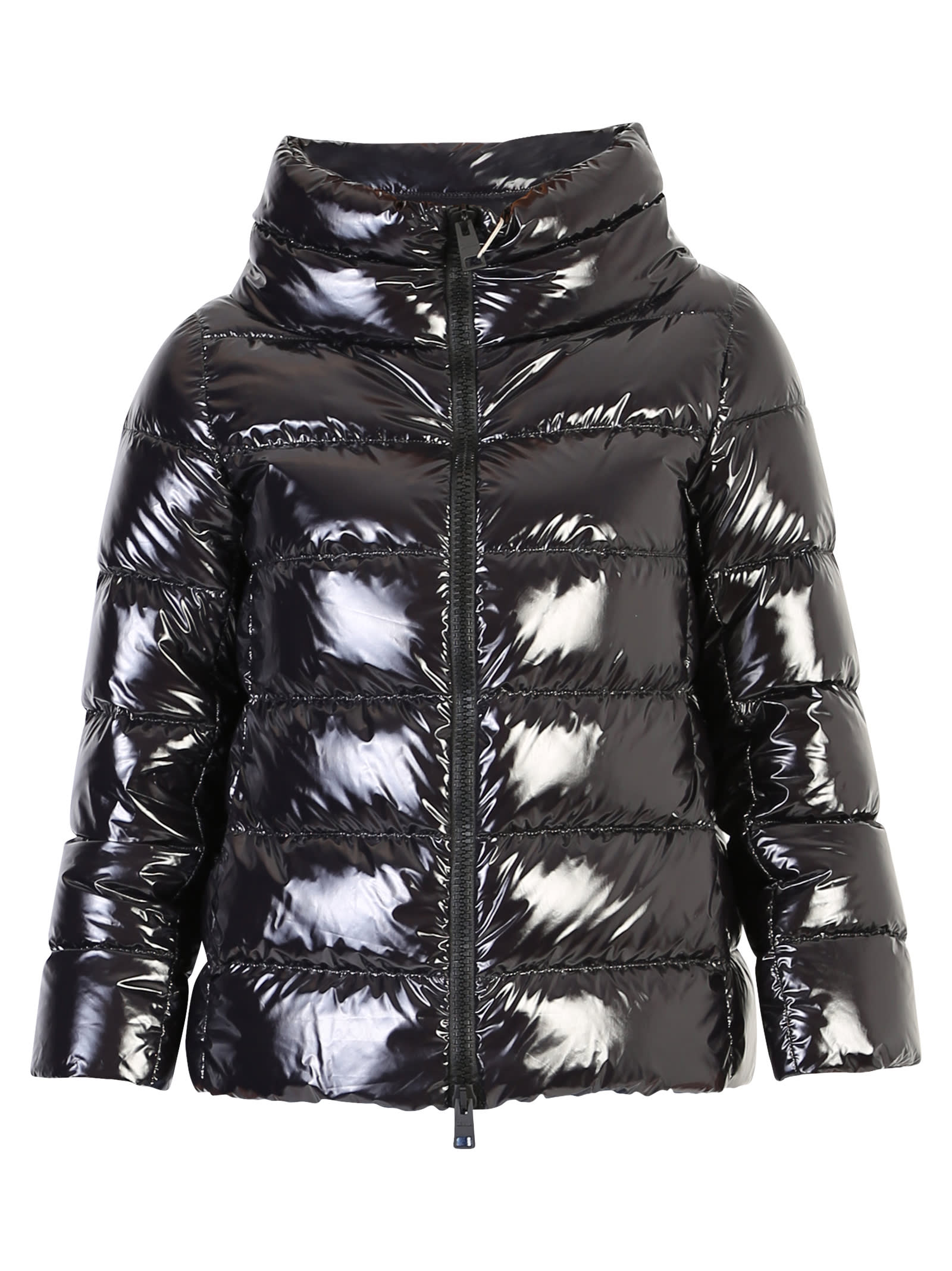 Photo of  Herno Black Zipped Padded Jacket- shop Herno jackets online sales