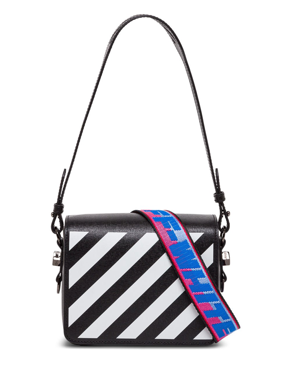 Off-white Diagonal Crossbody Bag In Black