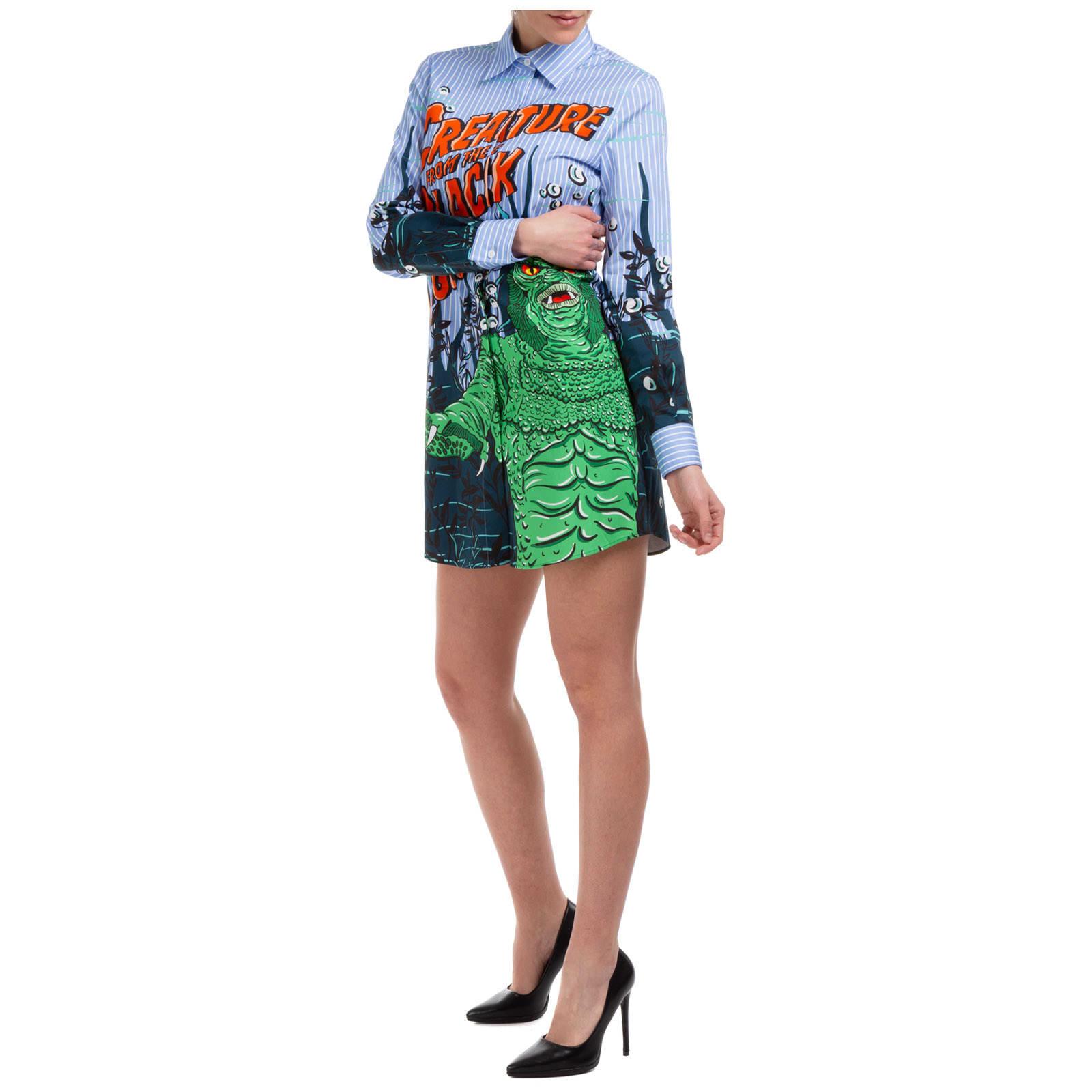 Buy Moschino Black Lagoon Mini Dress online, shop Moschino with free shipping