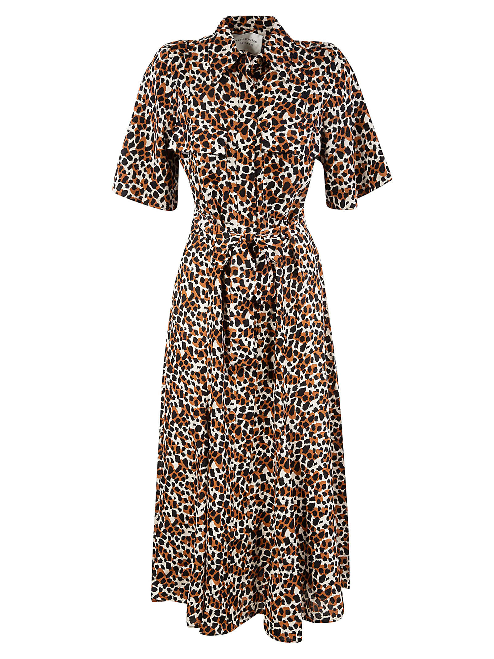 Buy Les Coyotes De Paris Fitted Waist Printed Maxi Dress online, shop Les Coyotes De Paris with free shipping