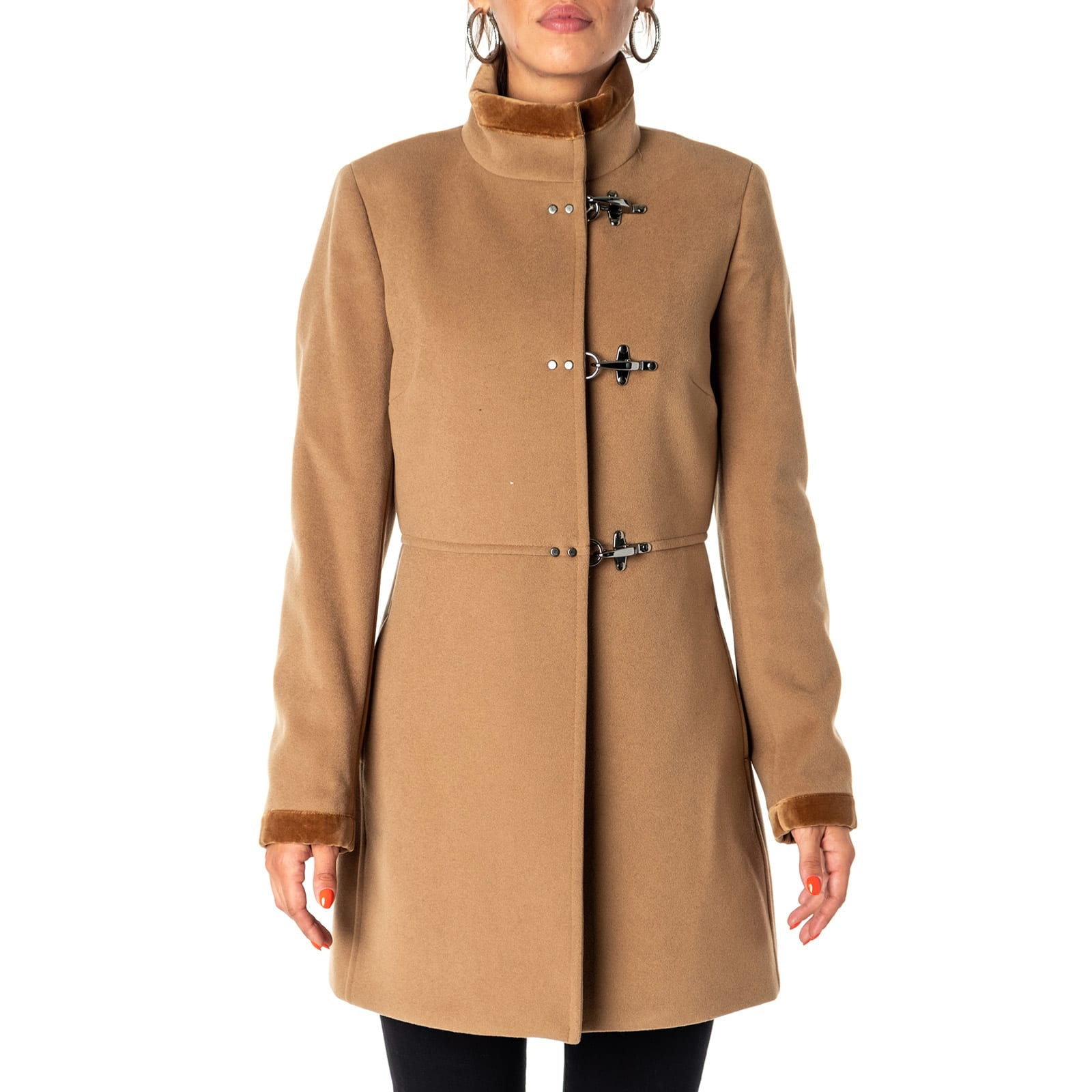Fay Virgin Wool And Cashmere Blend Coat